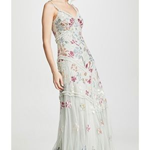 Needle & Thread Deconstructed Floral Sequin Dress